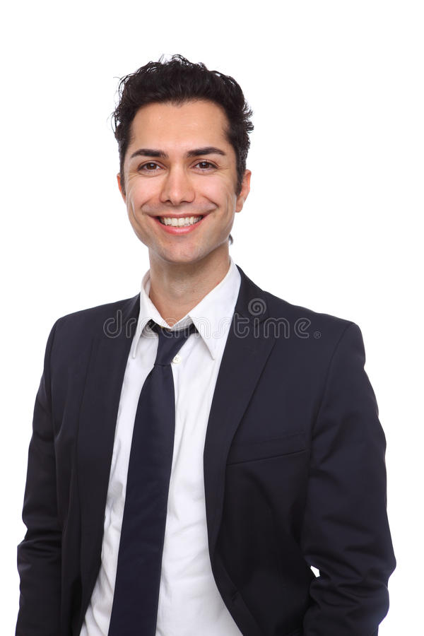 Download Portrait Of A Young Businessman Smiling Stock Image - Image: 18810573