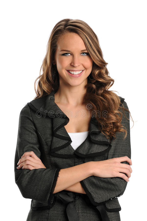 Download Portrait Of Young Businesswoman Stock Image - Image: 20046133
