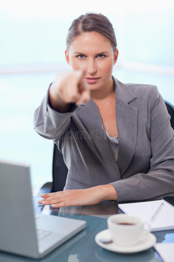 Portrait Of A Young Businesswoman Stock Photos