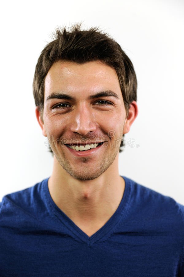 Portrait of a young casual man stock images