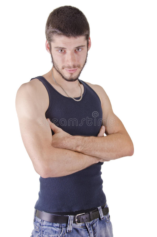 Portrait Of Young Casual Man Stock Image