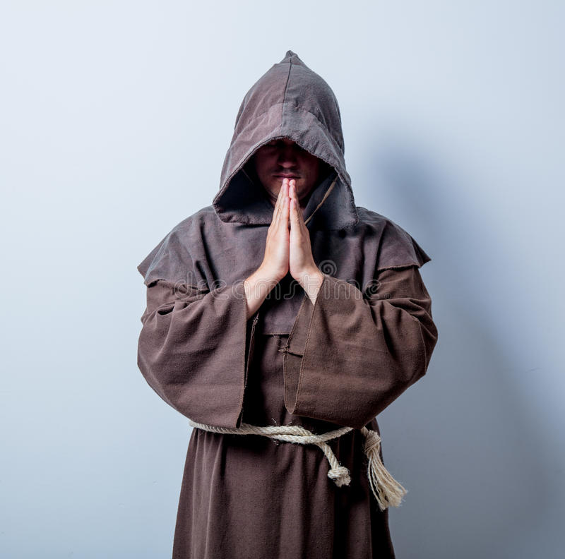 Portrait of Young catholic monk royalty free stock images