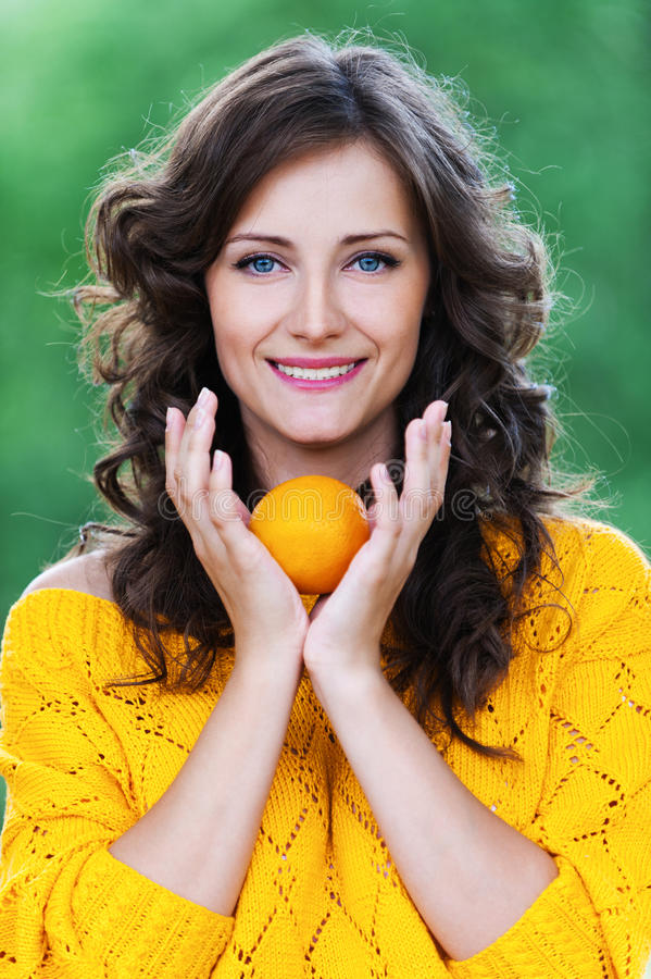 Free Portrait Young Charming Woman Stock Image - 21998891