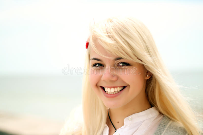 Download Portrait Of A Young Cheerful Girl Stock Image - Image: 14516051