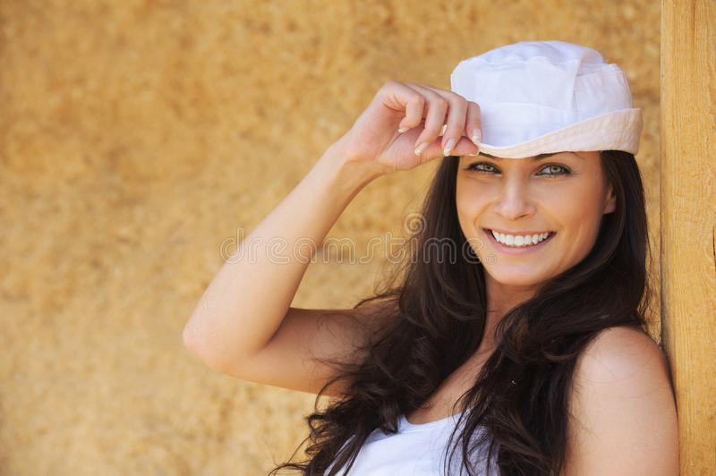 Download Portrait Of Young Cheerful Woman Stock Image - Image: 20299171
