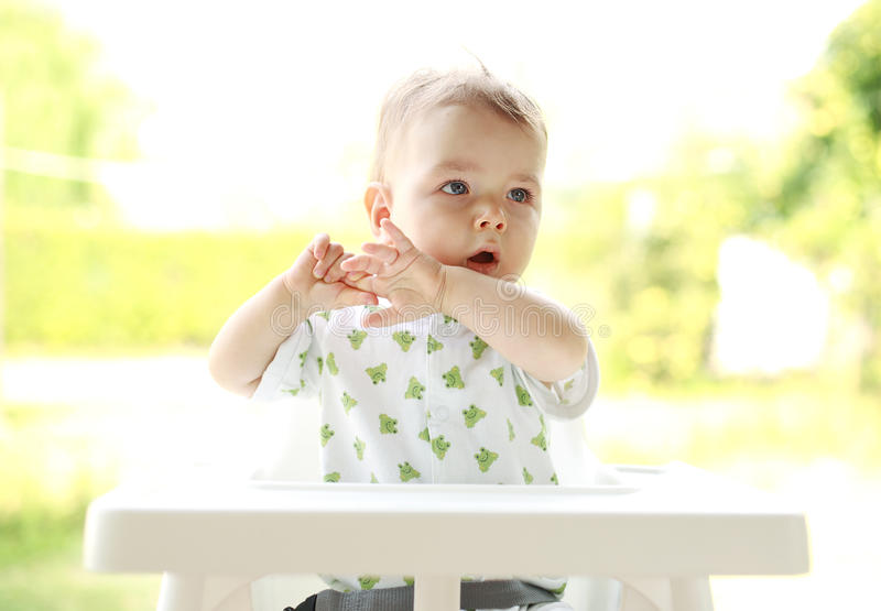 Download Portrait of a young child stock image. Image of innocence - 12170371