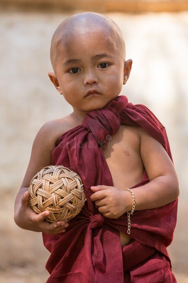 Portrait Young Child Monk In Myanmar, Burma Editorial ...