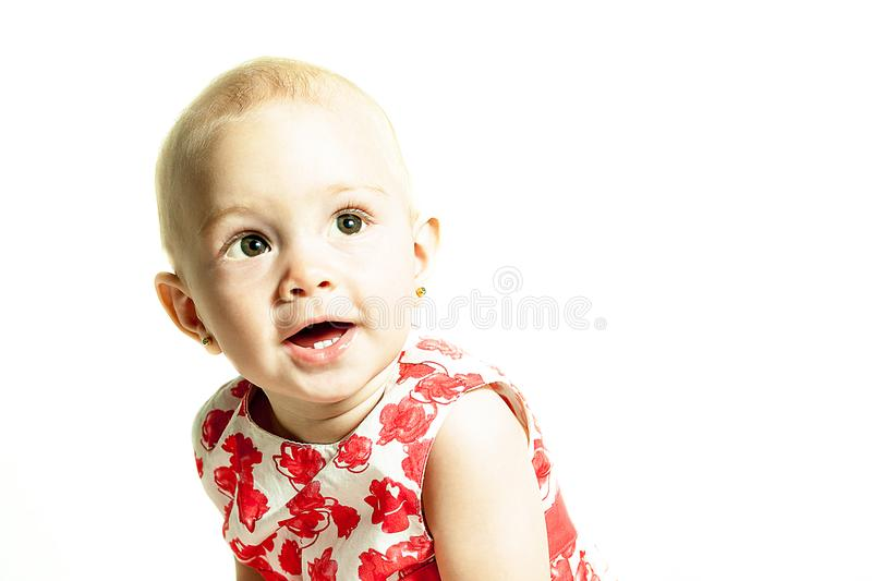 Portrait of a young child royalty free stock photo