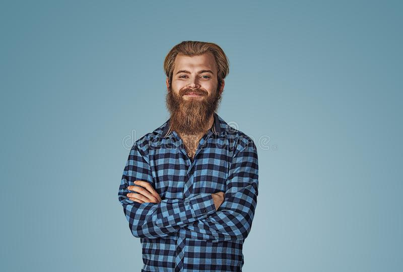 Portrait of young confident smiling man royalty free stock photography