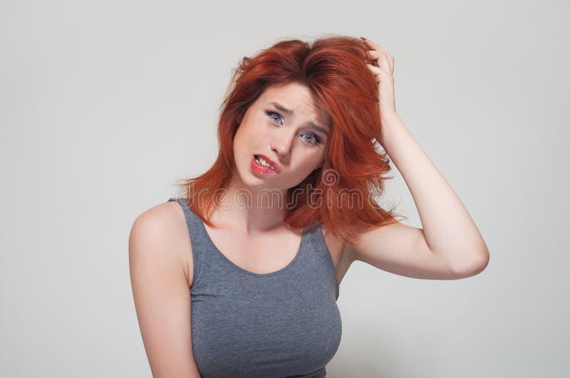 Download Portrait Of Young Confused Girl Stock Image - Image: 24386279