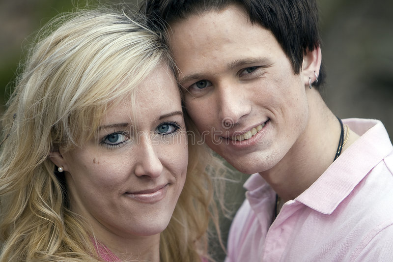 Portrait of young couple royalty free stock photography