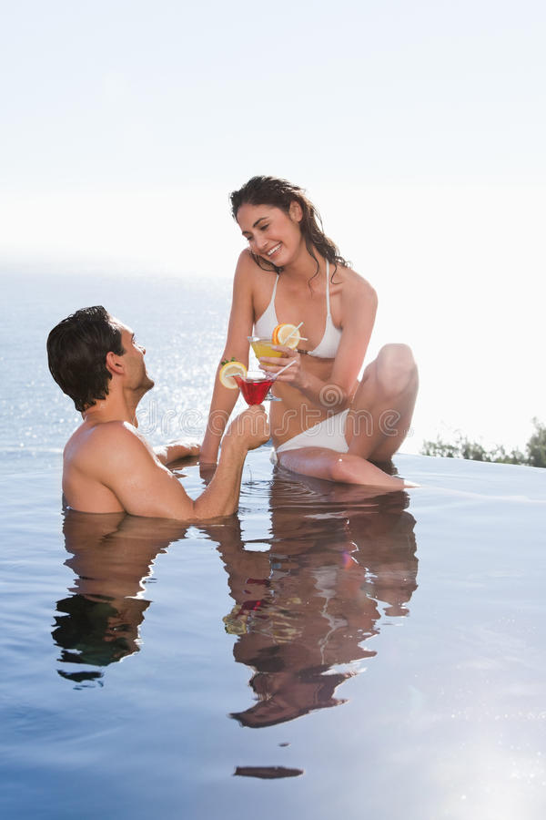 Download Portrait Of A Young Couple Having A Cocktail Stock Photo - Image: 22236620