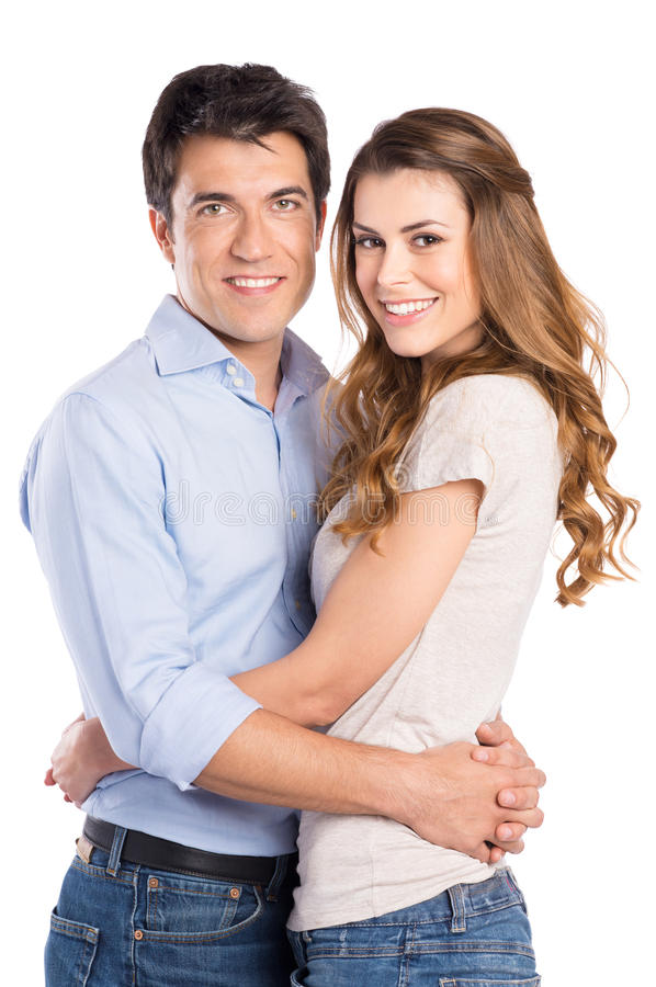 Download Portrait Of Young Couple Hugging Stock Photos - Image: 32225853