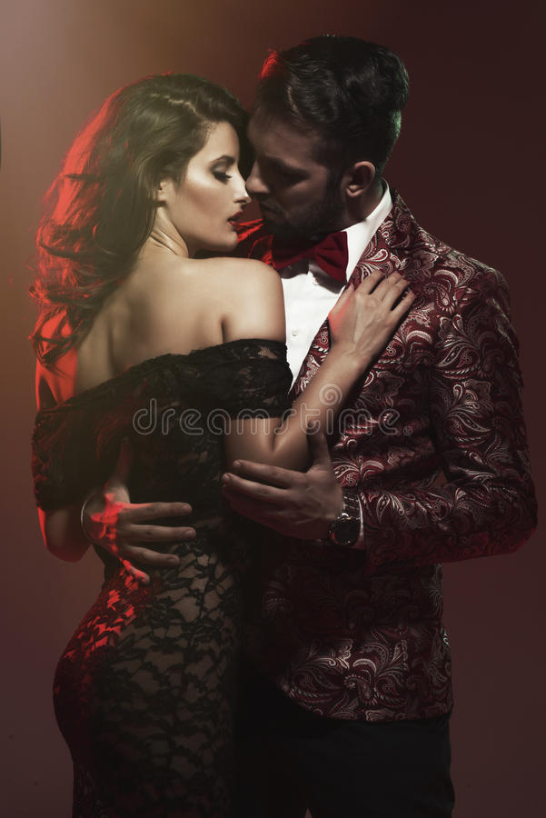 Portrait of young couple in love royalty free stock photo