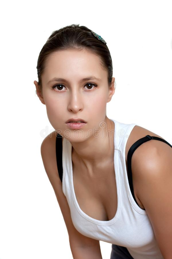 Download Portrait Of A Young Female With Headband Stock Photo - Image of female, clean: 14437138
