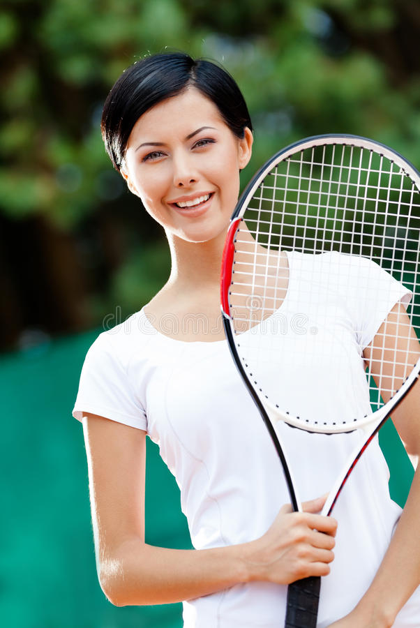 Download Portrait Of Young Female Tennis Player Stock Photo - Image: 26637394