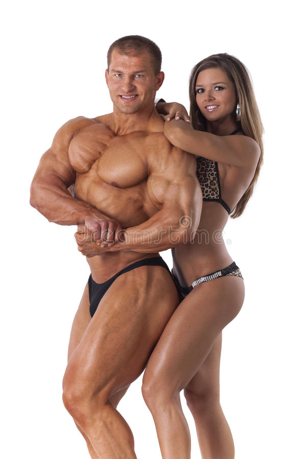 Portrait of young fitness couple royalty free stock images