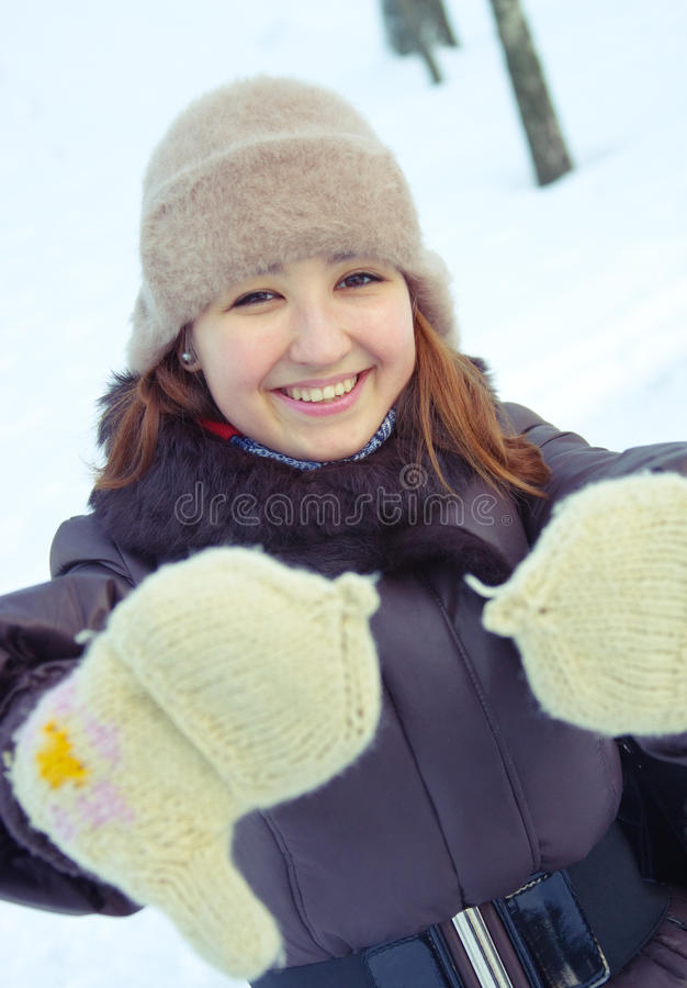 Portrait Of Young Girl Stock Photography