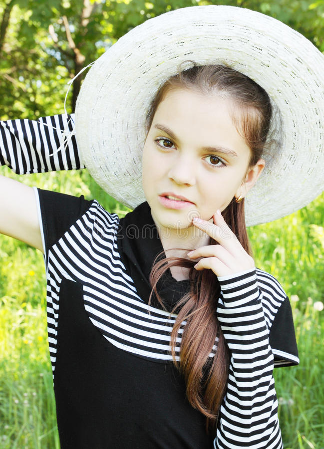 Portrait is young girl royalty free stock photography