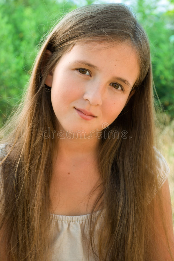 Download Portrait of young girl stock image. Image of color, healthy - 6371973