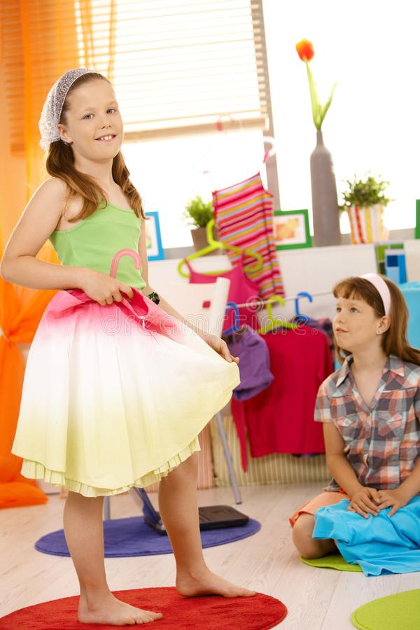 Download Portrait Of Young Girl Fitting Skirt Stock Images - Image: 23241974