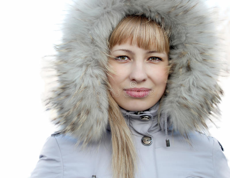 Portrait Of Young Girl In A Jacket Stock Photography
