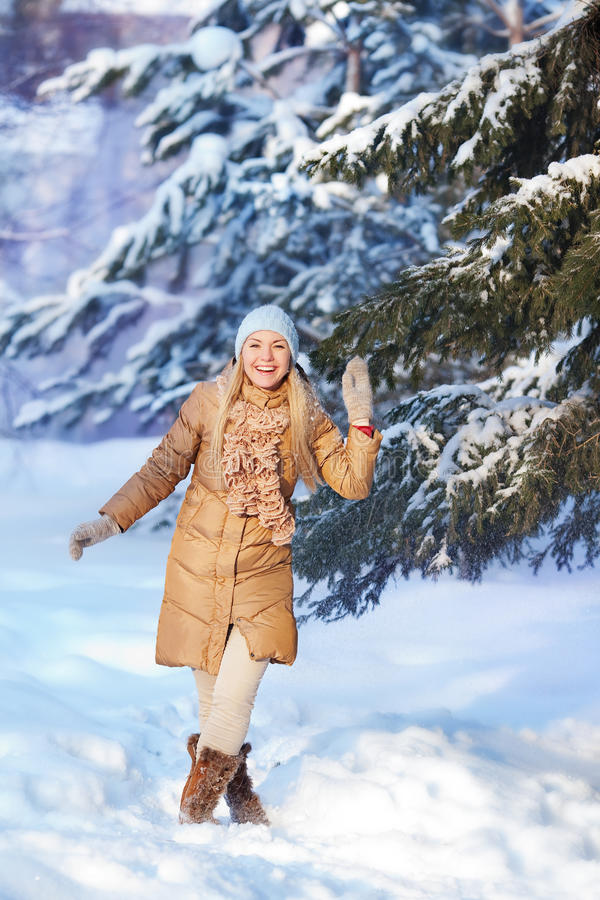 Portrait of Young girl in Winter royalty free stock photo
