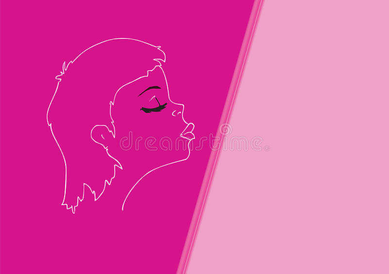 Download Portrait Of The Young Girl Wishing A Kiss Stock Vector - Image: 13069151