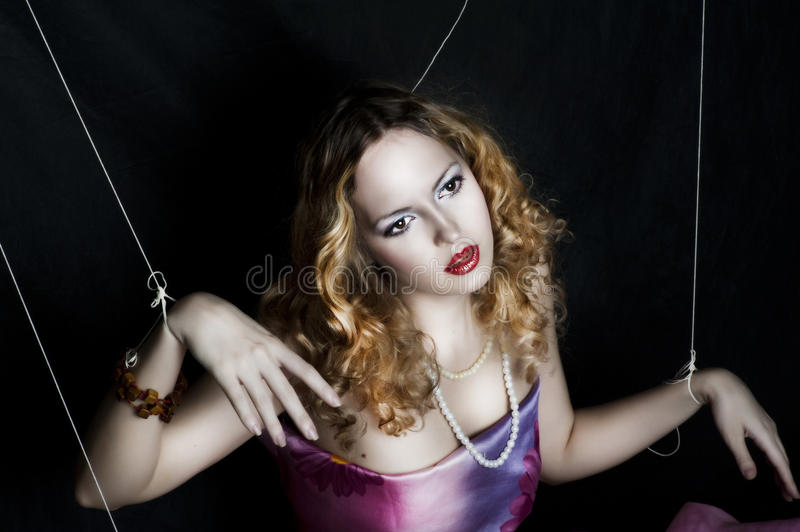 Portrait of young glamour woman royalty free stock photo
