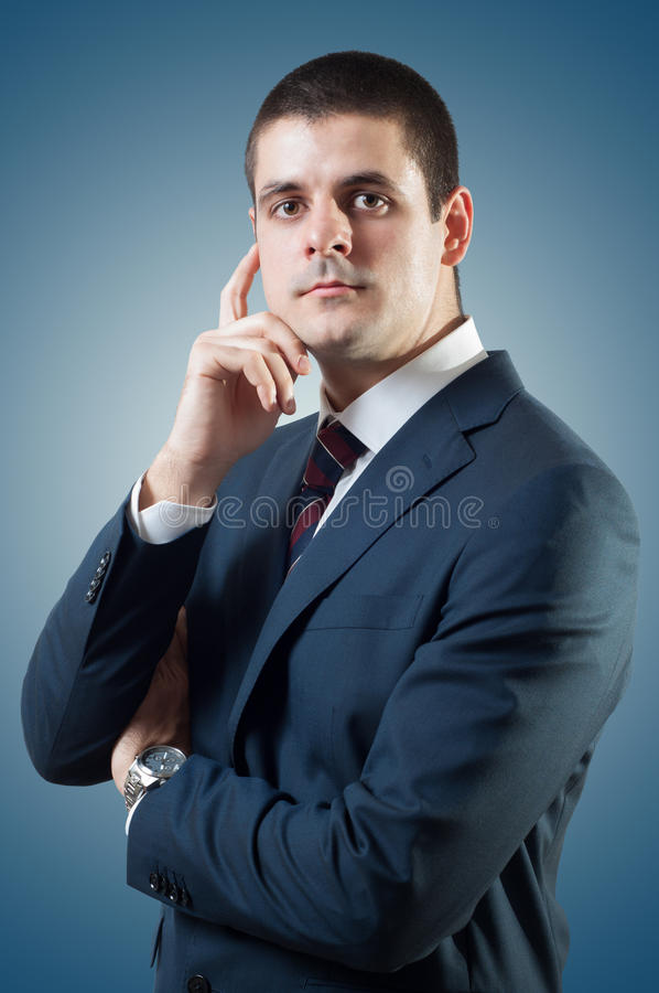 Politician. Portrait of young good looking male, posing like politician or businessman royalty free stock photo
