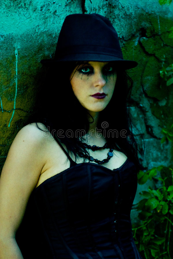 Download Portrait of young goth stock photo. Image of stylish, fashionable - 6354272