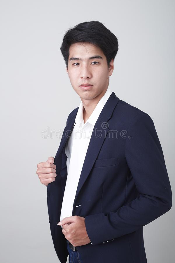 Portrait of a young handsome business man royalty free stock photography