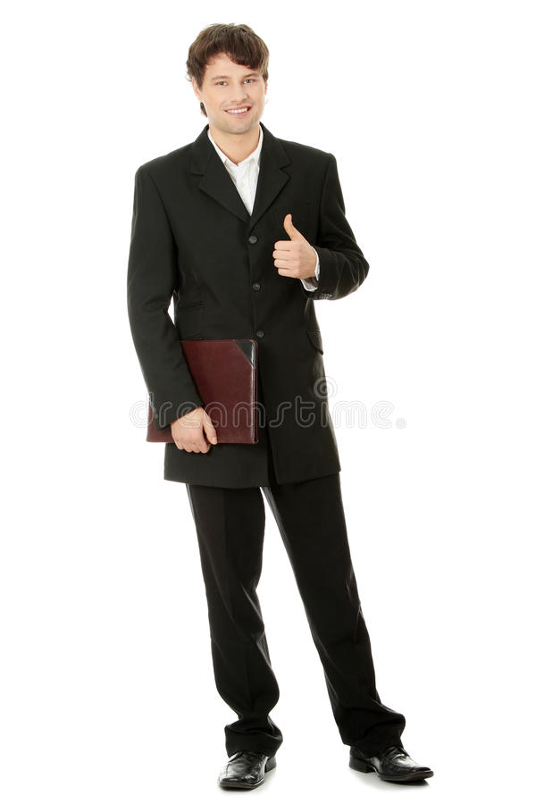 Download Portrait Of Young Handsome Businessman Stock Image - Image of confident, isolated: 17081545