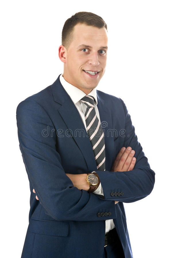 Download Portrait Of Young Handsome Businessman Stock Image - Image of look, natural: 21538857