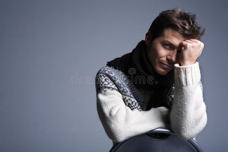Download Portrait Of Young Handsome Man Stock Photo - Image of male, brown: 13039708