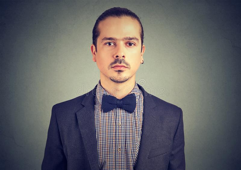 Portrait of a young handsome stylish man stock image