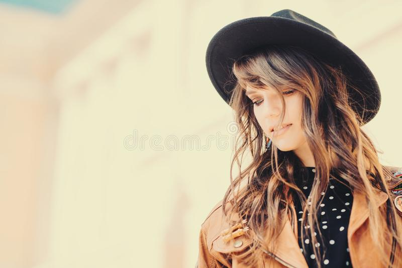 Dreamy charming girl royalty free stock images