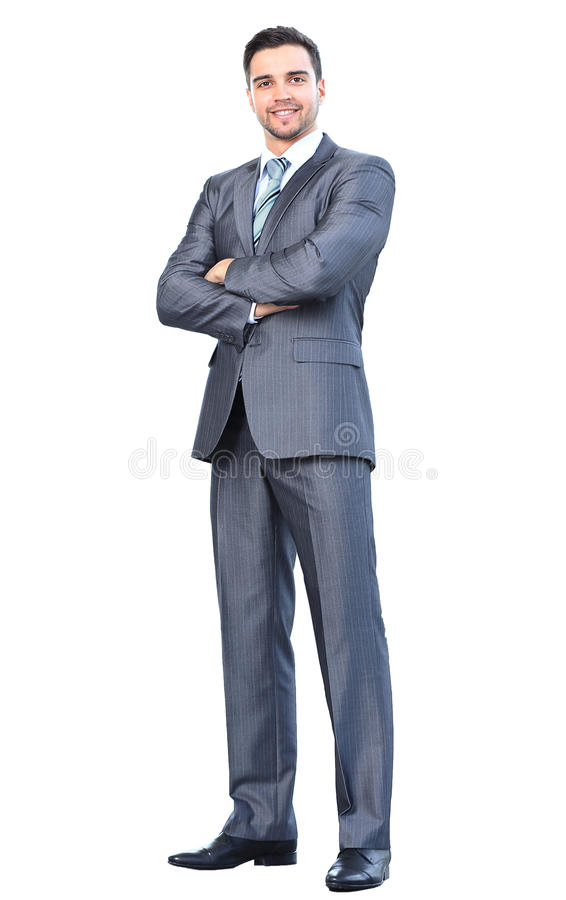 Portrait of young happy smiling cheerful business man royalty free stock images