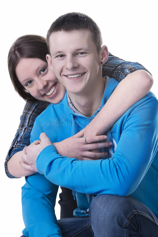 Download Young Cheerful Couple In Love Stock Photo - Image: 29790626