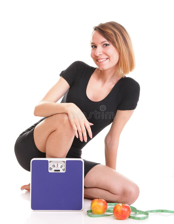 Portrait Young Healthy Woman Dieting Concept Royalty Free Stock Image