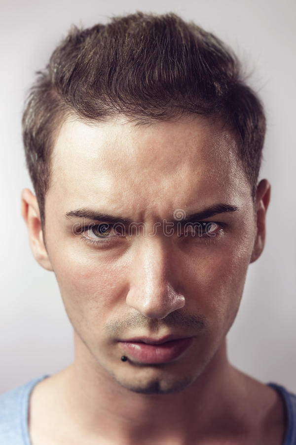 Portrait of young hipster male royalty free stock images