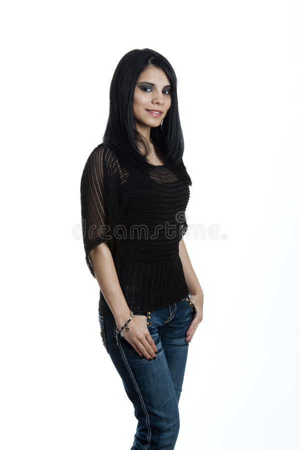 Portrait of a Young Hispanic Female royalty free stock photography