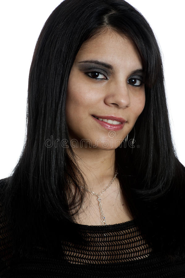Portrait of a Young Hispanic Female stock photos
