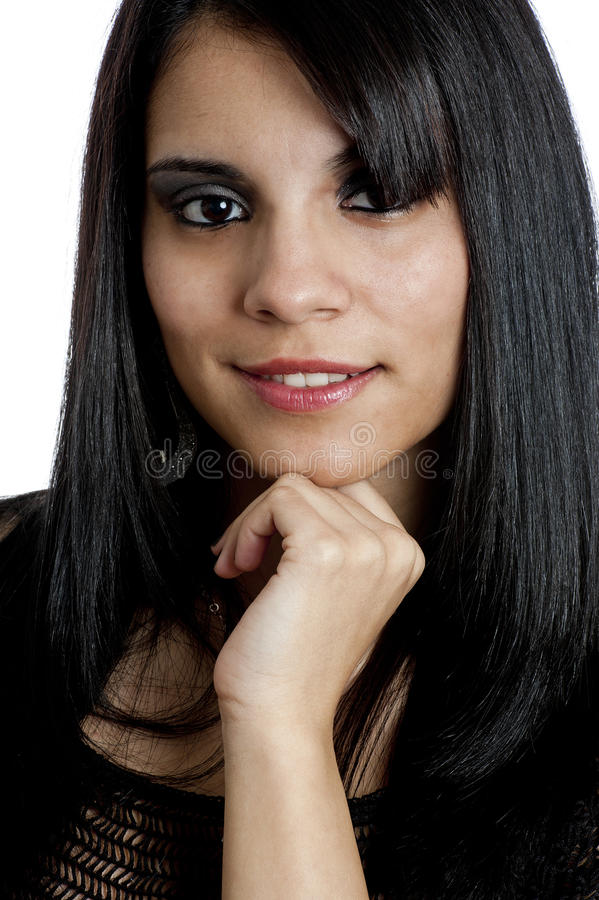 Portrait of a Young Hispanic Female royalty free stock photos