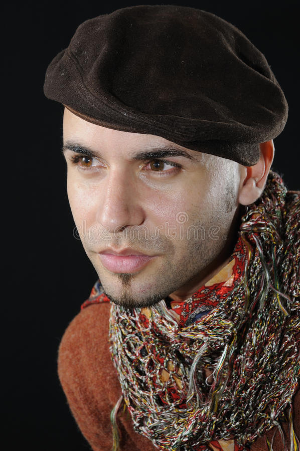 Portrait of young hispanic handsome man stock image