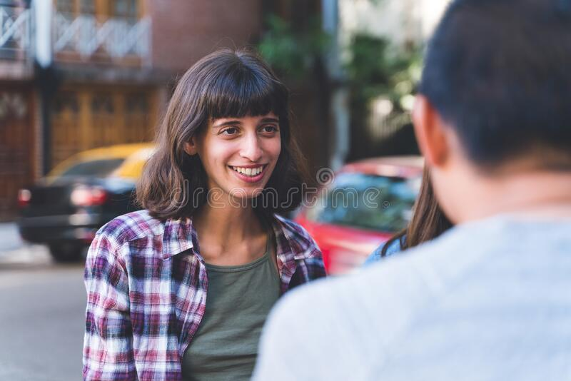 Portrait of a young hispanic woman stock image