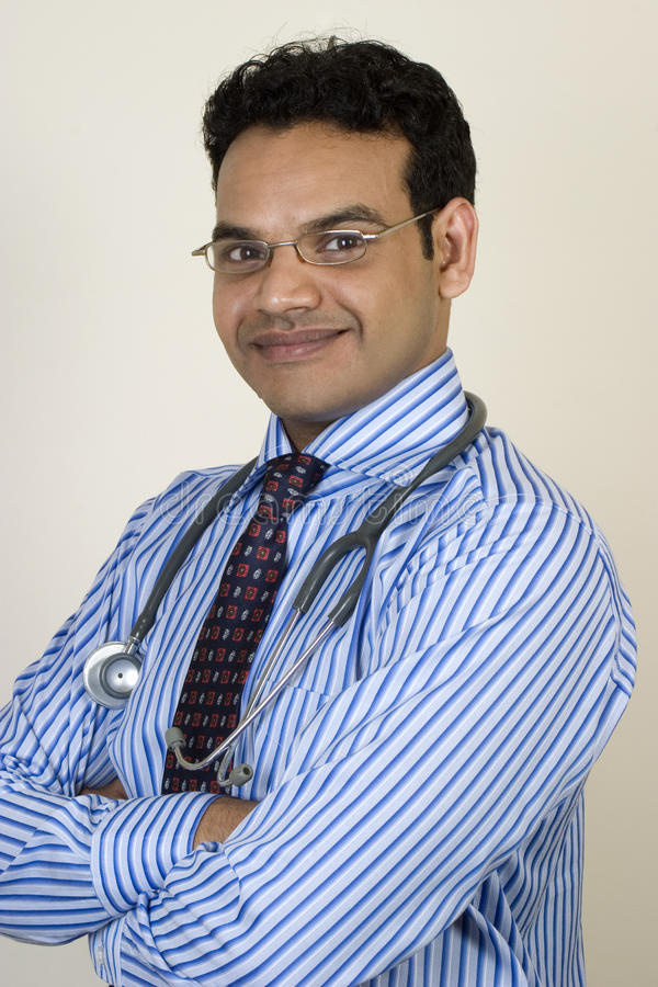 Download Portrait Of Young Indian Doctor Stock Image - Image of medical, doctor: 14688407