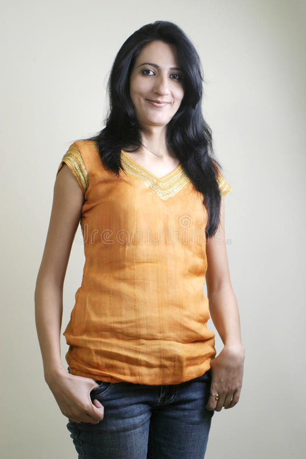 Download Portrait Of Young Indian Girl Stock Image - Image: 23553139