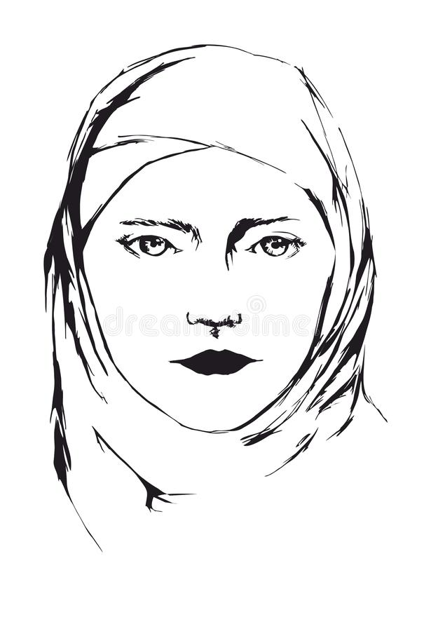Portrait of young islamic woman in veil royalty free stock images