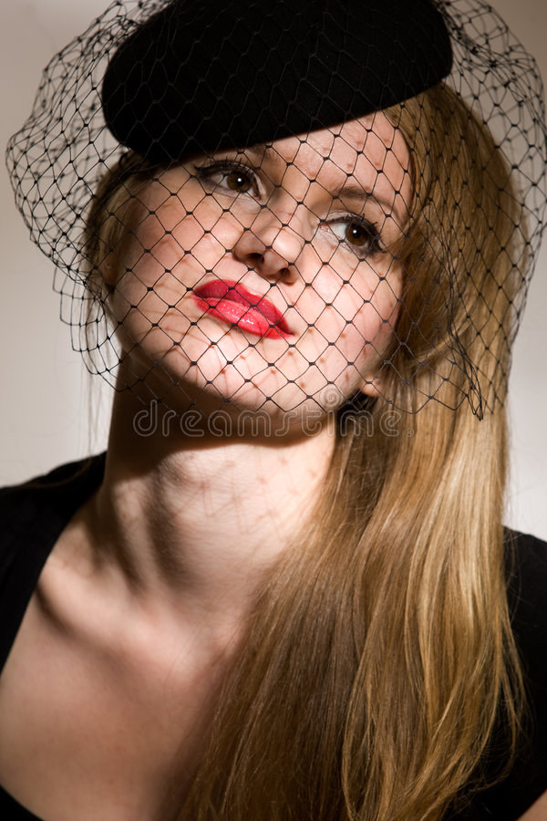 Download Portrait Of Young Lady In Black Stock Photo - Image: 5348860